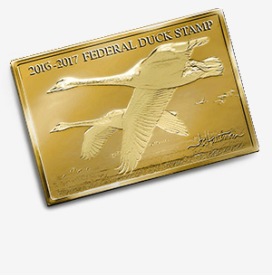 2016 Federal Duck Stamp Medallion Edition Gold Plated